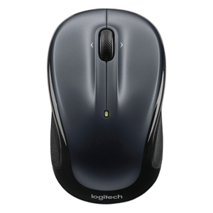 M325 Wireless Mouse (Dark Silver) Micro Precise Scrolling, Comfortable Contoured Design, Optical Tracking, Unifying Receiver, 18 Month Battery Life