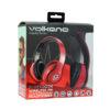 Volkano Impulse Series Over-Ear Multi-Function Bluetooth Headphones (Red)