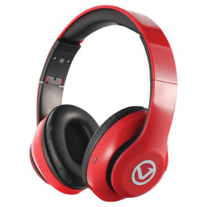 Volkano Impulse Series Over-Ear Multi-Function Bluetooth Headphones (Red)