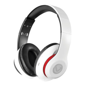 Volkano Impulse Series Over-Ear Multi-Function Bluetooth Headphones (White)