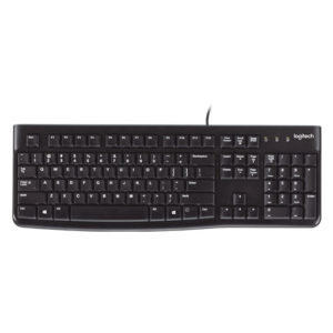Logitech K120 Keyboard - Thin Profile, Plug & Play, Comfortable Quiet Typing, Spill Resistant - USB