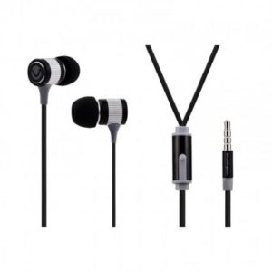 volkano metallic series earphone black