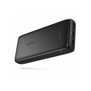RAVPOWER 32000mAh 3x USB 6A output Power Bank Black