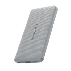 RAVPOWER 10000mAh USB|Type-C PD18W/QC3.0 Power Bank Grey