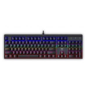 T-Dagger Escort Rainbow Colour Lighting|150cm Cable|Aluminium Body Design|Blue Switch|Mechanical Gaming Keyboard - Black