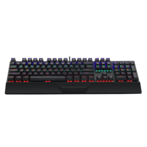 T-Dagger Destroyer 104 Key|Wrist Guard|Rainbow Backlit Gaming Mechanical Keyboard Black