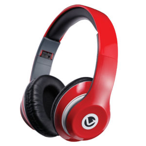 Volkano Falcon series Headphones w/mic - Red