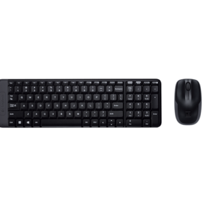 MK220 Wireless Desktop Sleek Design, 128 - bit Encryption , 24 month Keyboard and 5 months Mouse Battery Life, Space Saving Design , Plug & Play